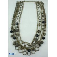 China Custom Women's Fashion Antique Bronze Necklace Display Window for Party OEM wholesale