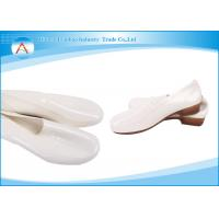 White Women Oilproof Kitchen Clean Room PVC Safety Raining Boots