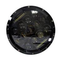 China 75W Auto Parts Halo 12V DRL 7 Inch Round Jeep Wrangler LED Headlight with Aluminum Die-cast Housing wholesale