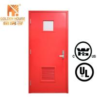 China WHI FM steel hollow metal fire rated proof single door with frame vision 2, 6 panel wholesale