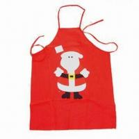 China Santa Apron, Made of 100% Polyester, Suitable for Christmas Decorations Purposes wholesale