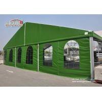 China Aluminum 15 x 35 Green Color Military Temporary Aircraft Hangar Portable With Sandwich Walling For Sale wholesale