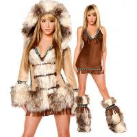 China Sexy Eskimo Sexy Womens Halloween Costumes With Coat / Dress / Legwarmers on sale