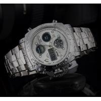 Quality SBAO Men Dual Time 1/100 Second Chronograph Steel Strap Fashion Sport Wrist Luminous Watches S-9005 for sale