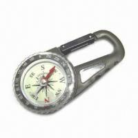 China Carabiner Compass with 50 Years Calendar wholesale