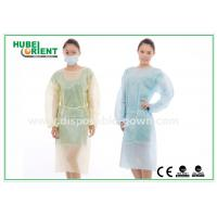 Hospital Disposable Isolation Gowns , Elastic Cuff disposable medical gowns