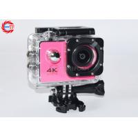 """30fps 2"""" Inch 4k Sports Action Camera With Remote Control WIFI Full HD Mini Pink"""