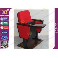 China Lecture Hall Folding Theater Seats Small Back Fixed Auditorium Chairs With Writing Pad wholesale