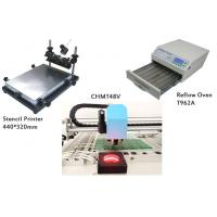 Buy cheap Small SMT Line Stencil Printer / CHMT48VA SMT Pick and Place Machine / Reflow Oven T962A from wholesalers