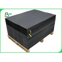 China FSC Certified 100% Wood Pulp Hard Stiffness Black Chipboard Sheet 250gsm 300gsm wholesale