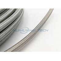 China Abrasion Resistant Stainless Steel Braided Sleeving For Wire Strong Protection on sale