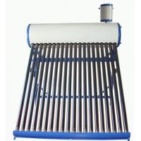 China Colored Steel Compact Low Pressure Solar Water Heater 167L 20 Tubes For Appartments wholesale