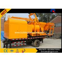 China 37Kw Small Stationary Concrete Pump , Portable Concrete Mixing Plant With Batcher wholesale