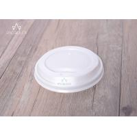 China Flat Disposable Lids PE / PLA Material Leakage Proof For Hot / Cold Drinks wholesale