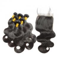 China Non Processed Virgin Human Hair Bundles Brazilian Body Wave No Synthetic wholesale