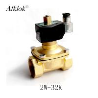 China Brass 1-1/4 inch Normally Open Air Water Solenoid Valve AC 24V on sale