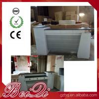 China Used Beauty Salon Furniture Front Desk Cheap Checkout Counter Luxury Reception Table wholesale
