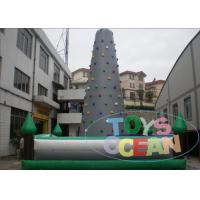 China Challenge Outdoor Inflatable Interactive Games Safety Climbing Wall For Adults wholesale