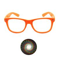China Print your Logo Plastic Diffraction Glasses Spiral Rave Fireworks Glasses wholesale