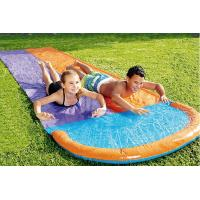 China Fancy Outdoor Leisure Equipment PVC Customized Colored Inflatable Double Splash Water Slide 60~120cm Deflated wholesale