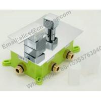 China concealed square brass shower faucet,Bathroom best price concealed bath shower mixer tap with diverter on sale