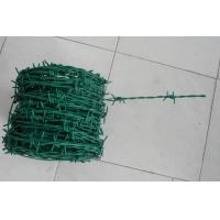 Wholesale PE Coated Barbed Wire Coil , Barbed  Fence Wire For Security Fence 300M from china suppliers