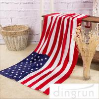 China American Flags Artwork Custom Printed Beach Towels Eco Friendly Pure Cotton on sale