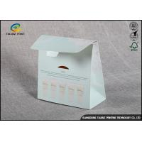 Quality Embossing Logo Cosmetic Packaging Boxes Archaize Style With Harmless Coated for sale
