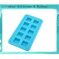 China 10 holes  diffrent shapes  healthy silicone ice cube tray wholesale