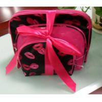 China Ladies Cosmetic Bags with Beautiful Bows wholesale
