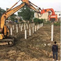 China Hydraulic Vibratory Sheet Pile /350mm Prefabricated photovoltaic pile /wooden Driver wholesale