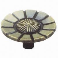 China Zinc Alloy Knob, Available in Various Finishes wholesale