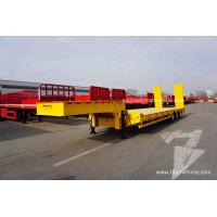 China TITAN Tri axle Semi Low Bed Trailer 70 TONS on sale