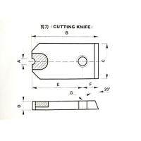 China Tungsten Carbide Die Cutting Knife ISO 9001 Approved For Screw Wire Cutter wholesale