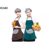 Buy cheap Contrast Color Custom Embroidered Aprons Working Cooking For Coffee Shop from wholesalers