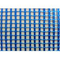 China Blue 4 x 4  5 x 5 mm Fiberglass Mesh Reinforced Size C - Glass  With 110 g / m2 on sale