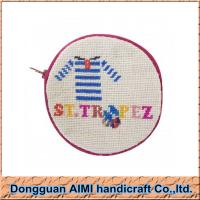 China AIMI New handmade craft cute needlepoint coin wallet with embroidery thread wholesale