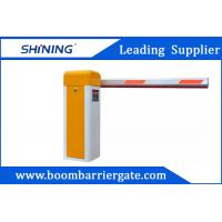 China Yellow Intelligent Entrance Electronic Boom Barrier / Arm Barrier Gate wholesale