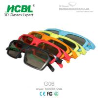 Wholesale ABS Frame Circular Polarized 3d Glasses With Side By Side Cine Lens 150* 45* 152 MM from china suppliers