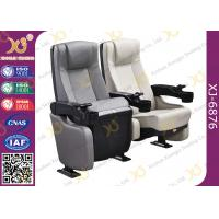 China Plastic Shell Leather Cinema Theater Chairs With Tip-up Seat / Lecture Hall Seating wholesale