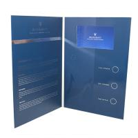 China Folded Paper LCD Brochure Card 1200g Hard Cover Music HD Screen For Advertisement wholesale