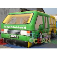 China Advertisement Custom Inflatable Bounce House Model Car With Slide 2 Years Warranty wholesale