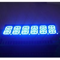 China 0.39 Inch 6 Digit 14 Segment Display Common Cathode Ultra Blue Process Control Applied wholesale