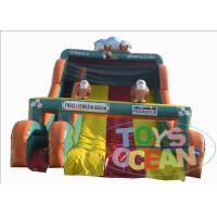 China Cartoons Bird Inflatable Slides Kids Party Inflatable Night Owl Bouncy Two Lane Slide wholesale