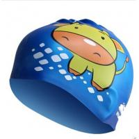 China Kids Fun Silicone Swimming Caps for Boys and Girls Sharks & Minnows by WHALE wholesale