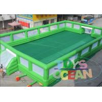 China Green Huge Inflatable Sport Game Football Field Soccer Cage Customize With LOGO wholesale