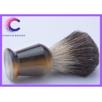 Quality Shaving gift ox horn handle Black Badger Shaving Brush for barber shop facial care for sale