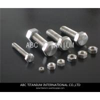 China DIN titanium anchor bolt/bolts and nuts/wheels bolts titanium ti 6al 4v/motorcycle equip wholesale