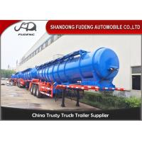 China 2 / 3 Axles sulfuric acid storage fuel tanker semi trailer with 20000 liters capacity on sale