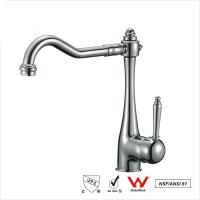 Quality Watermark Single Handle Water Faucet , Bathroom Basin Water Ridge Tap for sale